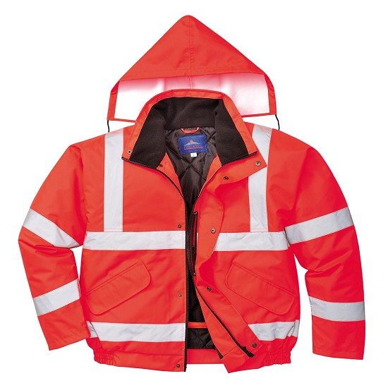HIGH VISIBILITY RED WORKING JACKET OXFORD S463