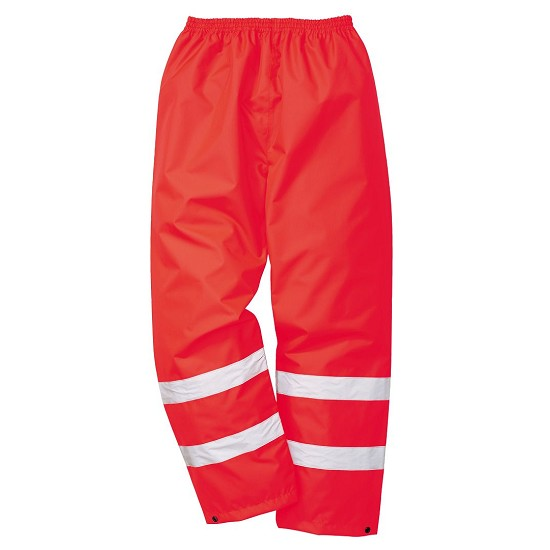 HIGH VISIBILITY RED TROUSERS OXFORD PU S480