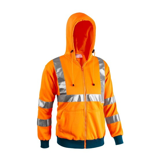 HIGH VISIBILITY SWEATSHIRT ISO EN 20471 7680