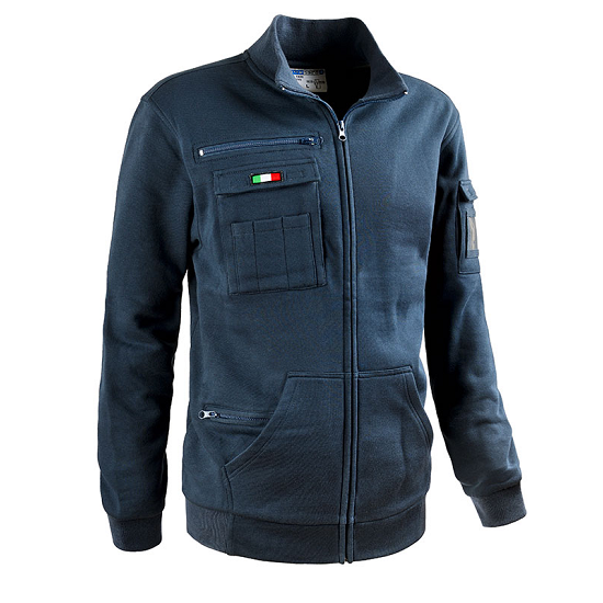 SWEAT FULL ZIP BLU NAVY MOD.RAIL 5035B