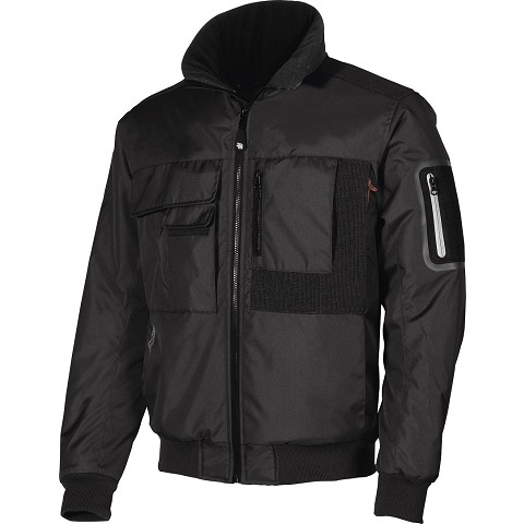 BOMBER JACKET U-POWER MATE M/STACCABILI HY108BC BLACK
