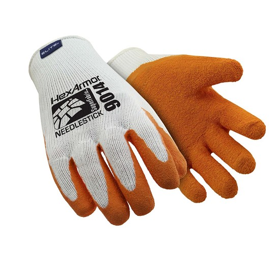 SEAMLESS COTTON-POLYESTER GLOVE / LATEX 9014