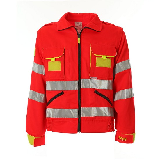 HIGH VISIBILITY WORKING JACKET EN20471 RESCUER TD09
