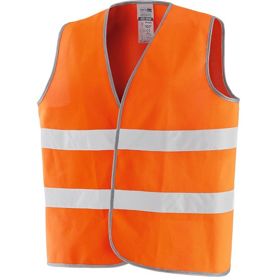 HIGH VISIBILITY WAISTCOAT IN 100% POLYESTER