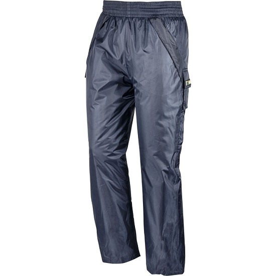 Trousers in polyester/PVC
