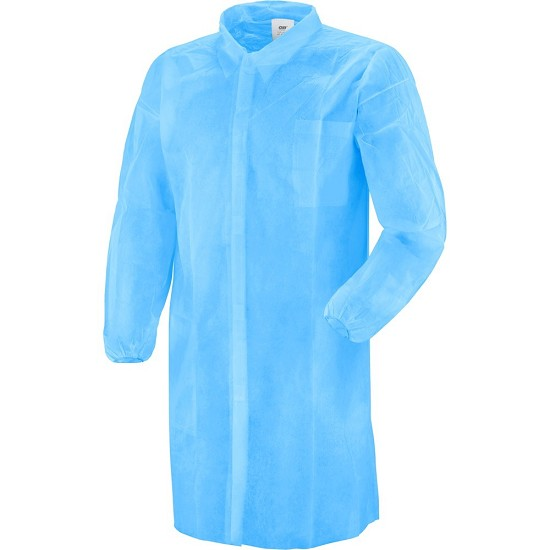 COATS DISPOSABLE PLP BLUE WITH VELCRO